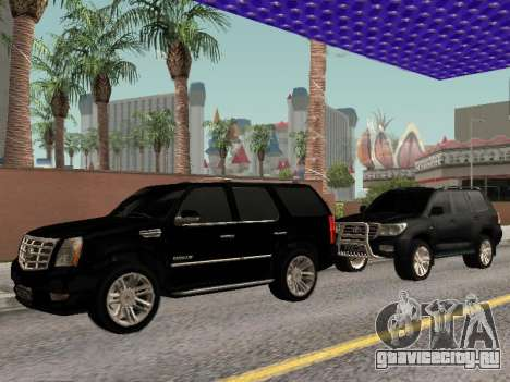 Cadillac Escalade 2010 для GTA San Andreas вид сзади