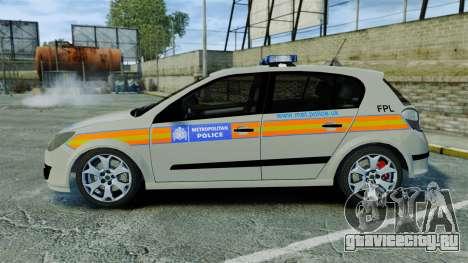 Vauxhall Astra Metropolitan Police [ELS] для GTA 4 вид слева