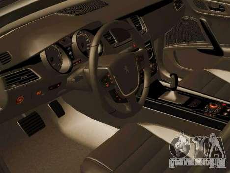 Peugeot 508 2011 v2 для GTA San Andreas вид сзади