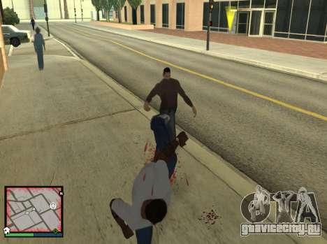 GTA 5 HUD v2 для GTA San Andreas третий скриншот