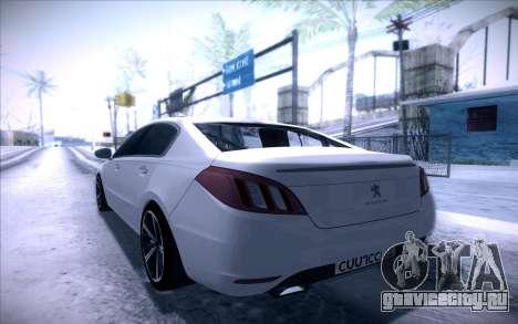 Peugeot 508 2011 v2 для GTA San Andreas вид слева