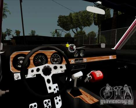 Ford Falcon Sprint 1972 для GTA San Andreas вид изнутри