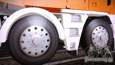 Freightliner Argosy 8x4 для GTA San Andreas вид сзади