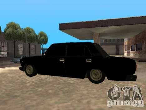 Ваз 2107 v1.2 Final для GTA San Andreas вид слева