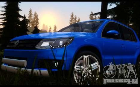 Volkswagen Tiguan 2012 для GTA San Andreas вид сзади слева
