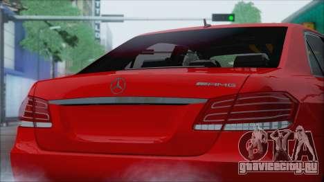Mercedes-Benz E63 AMG 2014 для GTA San Andreas вид сзади
