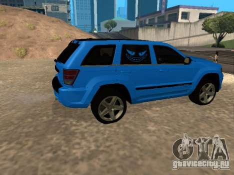 Jeep Grand Cherokee SRT8 Restyling M для GTA San Andreas вид сзади