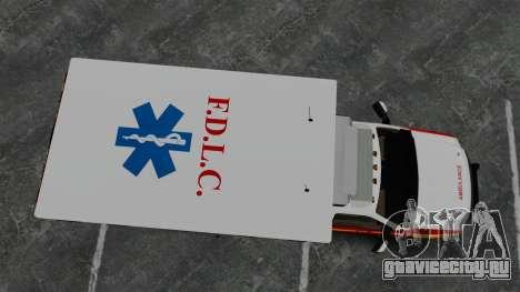 Ford F-250 Super Duty FDLC Ambulance [ELS] для GTA 4 вид справа