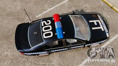 Ford BF Falcon XR6 Turbo Police [ELS] для GTA 4 вид справа