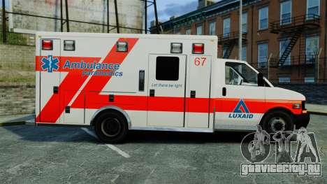Brute Luxaid Ambulance [ELS] для GTA 4 вид слева