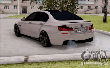 BMW 550 F10 xDrive для GTA San Andreas вид слева