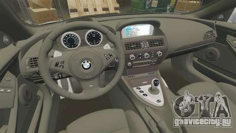 BMW M6 Vossen для GTA 4 вид изнутри