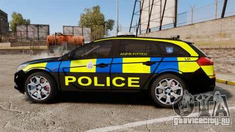 Vauxhall Insignia Sports Tourer Police [ELS] для GTA 4 вид слева