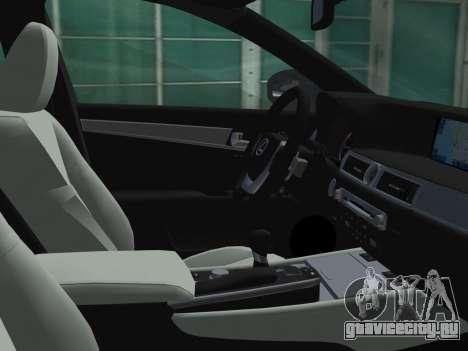 Lexus GS350 F Sport 2013 для GTA Vice City вид сверху
