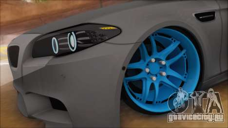 BMW M5 F10 для GTA San Andreas вид справа