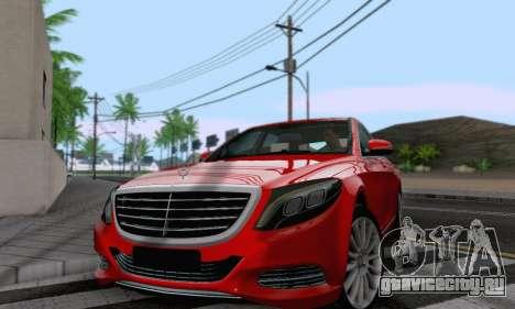 Mercedes-Benz W222 для GTA San Andreas вид сзади слева