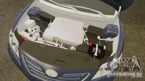 Toyota Camry для GTA 4 вид изнутри