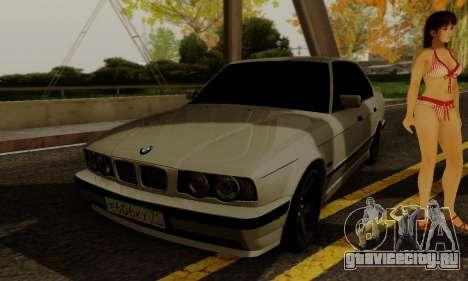 BMW 525 Re-Styling для GTA San Andreas вид изнутри