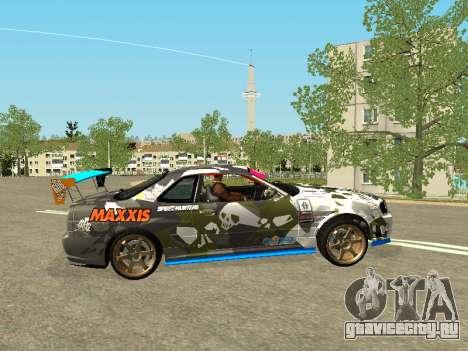 Nissan Skyline Drift для GTA San Andreas вид слева