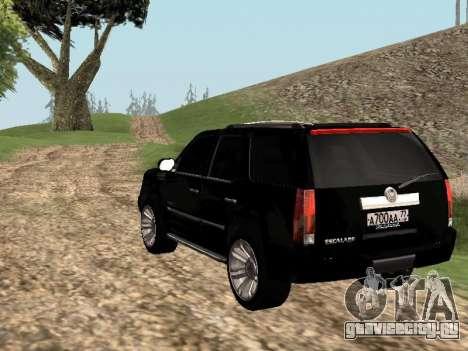 Cadillac Escalade 2010 для GTA San Andreas вид слева