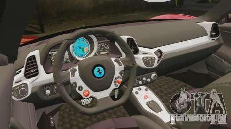 Ferrari 458 Italia для GTA 4 вид сбоку