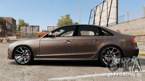 Audi S4 2013 Unmarked Police [ELS] для GTA 4 вид слева