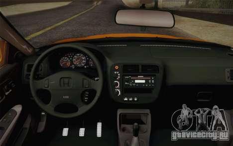Honda Civic 1999 Si для GTA San Andreas вид справа