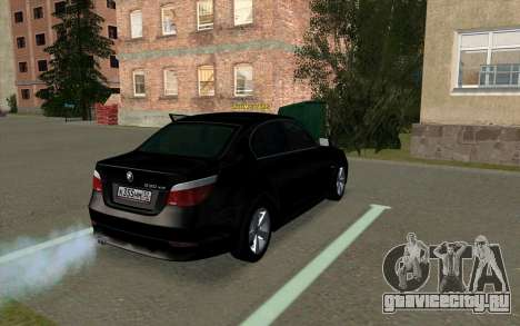 BMW 530xd для GTA San Andreas вид справа