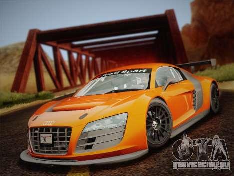 Audi R8 LMS v2.0.4 DR для GTA San Andreas вид изнутри