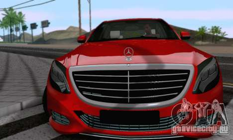 Mercedes-Benz W222 для GTA San Andreas вид справа