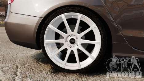 Audi S4 2013 Unmarked Police [ELS] для GTA 4 вид сзади