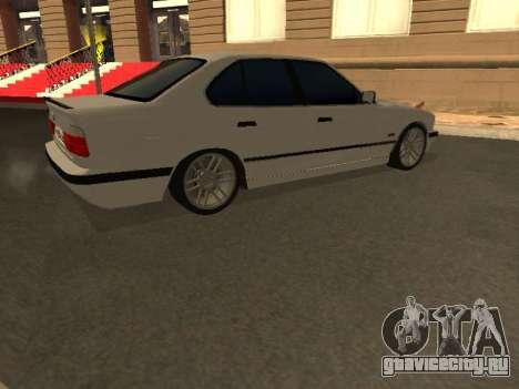 BMW 525 Smotra для GTA San Andreas вид изнутри