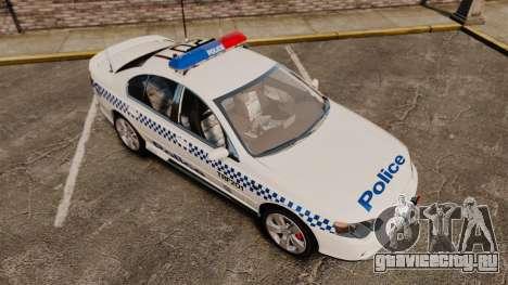 Ford BF Falcon XR6 Turbo Police [ELS] для GTA 4 вид сверху