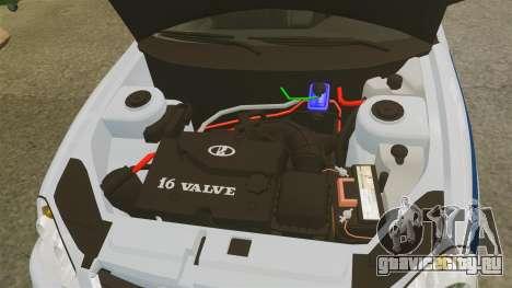 ВАЗ-2170 Полиция для GTA 4 вид изнутри