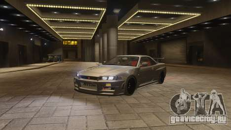 Nissan Skyline GTR-34 Nismo Z-Tune для GTA 4 вид сбоку