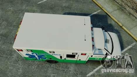 Brute GQ Med Ambulance [ELS] для GTA 4 вид справа