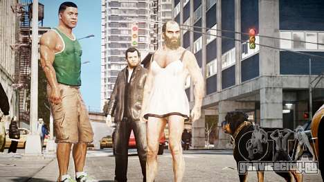 GTA V Майкл де Санта для GTA 4