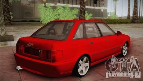 Audi 80 B4 RS2 для GTA San Andreas вид сзади слева