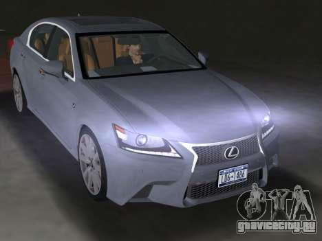 Lexus GS350 F Sport 2013 для GTA Vice City вид сзади слева