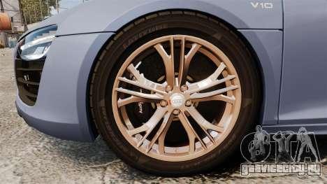 Audi R8 V10 plus Coupe 2014 [EPM] для GTA 4 вид сзади
