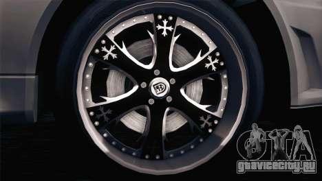Nissan Skyline GT-R R34 V-Spec Lexani Rims для GTA San Andreas вид слева