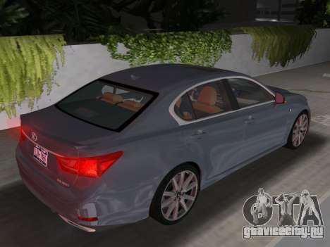 Lexus GS350 F Sport 2013 для GTA Vice City вид изнутри
