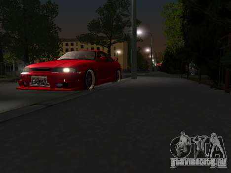 Nissan Skyline R33 GT-R V-Spec для GTA San Andreas вид изнутри