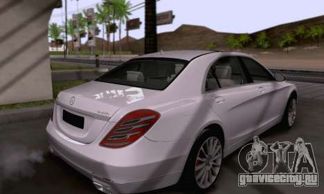 Mercedes-Benz W222 для GTA San Andreas вид сбоку