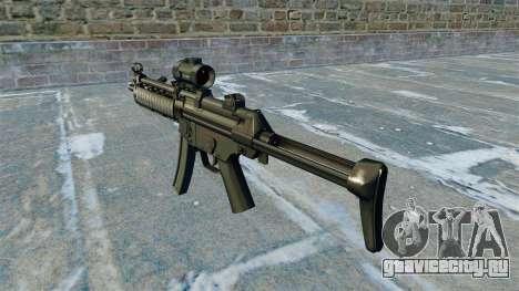 Пистолет-пулемёт MP5 RIS Nom900a для GTA 4 второй скриншот