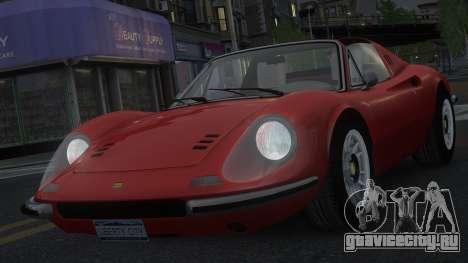 Ferrari Dino 246 GTS для GTA 4 вид сверху