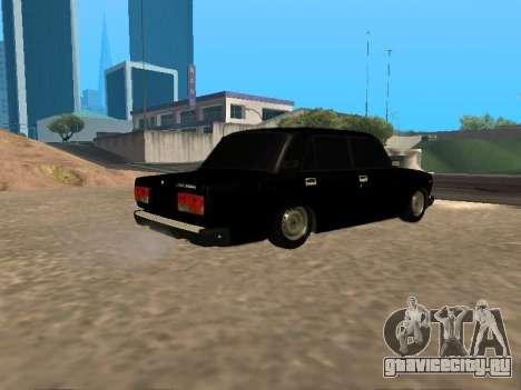 Ваз 2107 v1.2 Final для GTA San Andreas вид справа