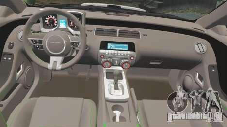 Chevrolet Camaro Police [ELS-EPM] для GTA 4 вид сзади