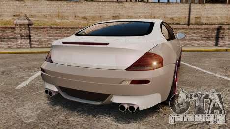 BMW M6 Vossen для GTA 4 вид сзади слева