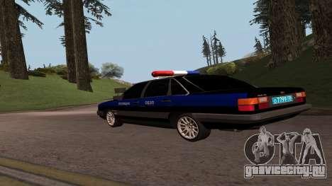 Audi 100 Полиция ОБЭП для GTA San Andreas вид слева